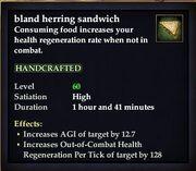 Bland herring sandwich