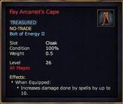 Fay Arcanist's Cape