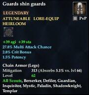 Guards shin guards