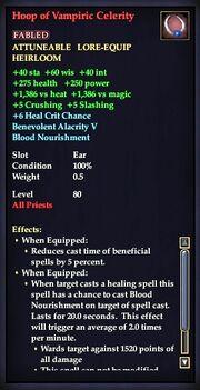 Hoop of Vampiric Celerity