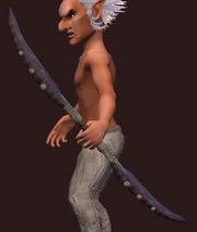 Snowfang Predator's Longbow (Equipped)