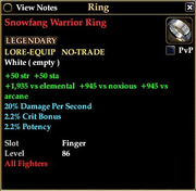Snowfang Warrior Ring
