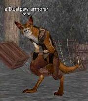 A Dustpaw armorer