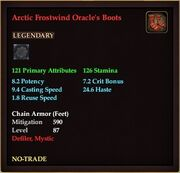 Arctic Frostwind Oracle's Boots