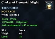 Choker of Elemental Might