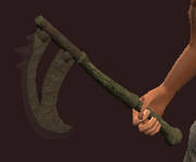 Iron Crescent Axe (Equipped)