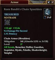 Keen Bandit's Chain Spaulders