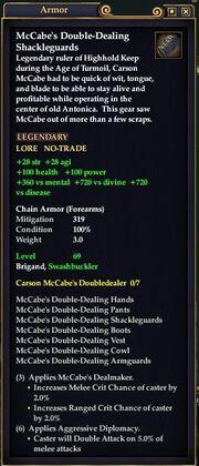 McCabe's Double-Dealing Shackleguards