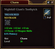 Nightfall Giant's Toothpick