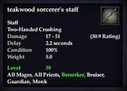 Teakwood sorcerer's staff