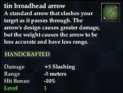 Tin broadhead arrow