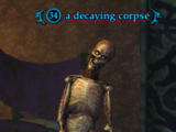 A decaying corpse