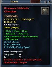 Hammered Molderite Chestplate