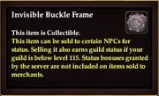 Invisible Buckle Frame