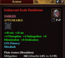 Iridescent Scale Pauldrons