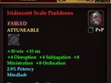 Iridescent Scale Pauldrons