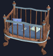 Mahogany crib (Visible)