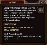 Vessp Scholar Blue Gloves