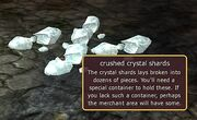 Crushed crystal shards