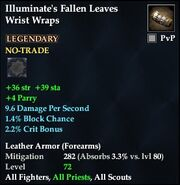 Illuminate's Fallen Leaves Wrist Wraps