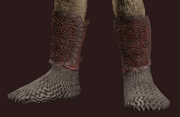 Ringed Boots of Militia Service (Equipped)
