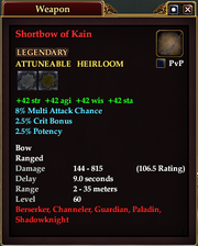 Shortbow of Kain