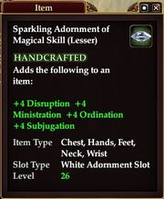 Sparkling Adornment of Magical Skill (Lesser)