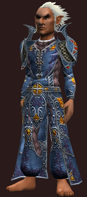 Vesspyr Scholar's Elaborate Blue Robe (Equipped)