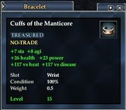 Cuffs of the Manticore