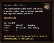 Forestwraith's Cleave