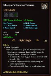 Ghostpaw's Enduring Talisman