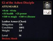 Gi of the Ashen Disciple