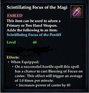 Scintillating Focus of the Magi