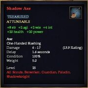 Shadow Axe (Reward)