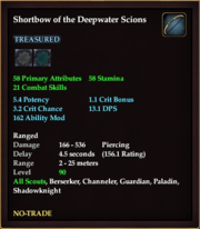 Shortbow of the Deepwater Scions
