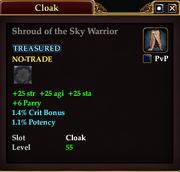 Shroud of the Sky Warrior