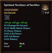Spiritual Necklace of Sacrifice
