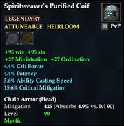 Spiritweaver's Purified Coif
