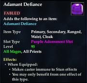 Adamant Defiance (Purple)