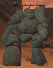 An earthcrafted champion