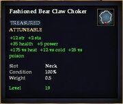 Fashioned Bear Claw Choker