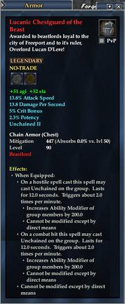 Lucanic Chestguard of the Beast