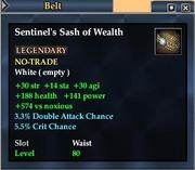Sentinel's Sash of Wealth