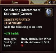 Smoldering Adornment of Endurance (Greater)