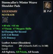 Stormcaller's Winter Weave Shoulder Pads