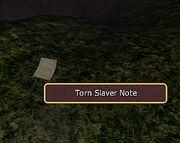 Torn Slaver Note