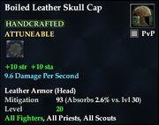 Boiled Leather Skull Cap