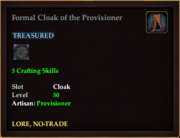 Formal Cloak of the Provisioner