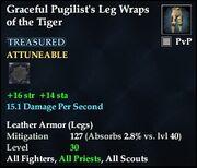 Graceful Pugilist's Leg Wraps of the Tiger