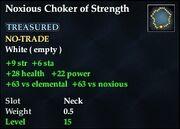 Noxious Choker of Strength